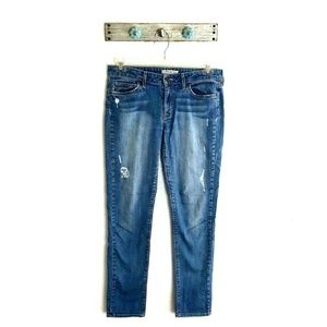 Rich & Skinny 27 Winter Lake Distressed Blue Jeans
